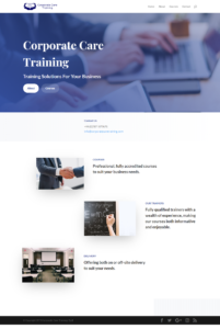 Corporate Care Training Website Link